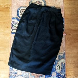 Vintage Black Silk Skirt - XS